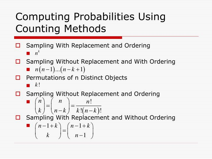 Computing Probabilities Using Counting Methods