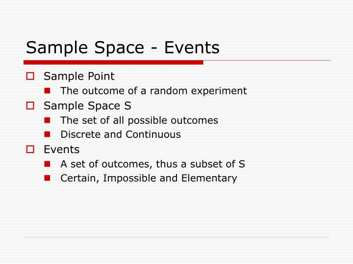 Sample space events