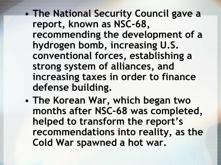 cold war nsc 68 Ernest r may is one of the leading diplomatic historians in the united states he  is the charles warren professor of history at harvard university, where he has.