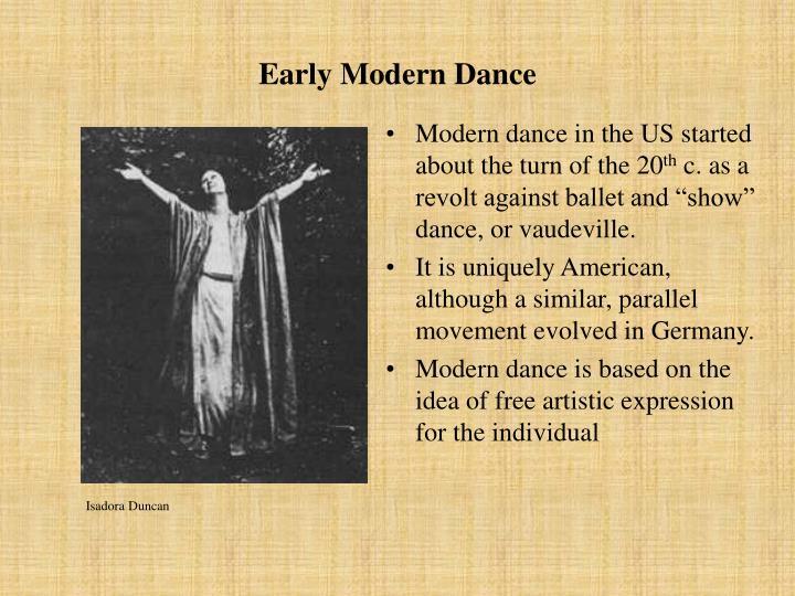 Early Modern Dance