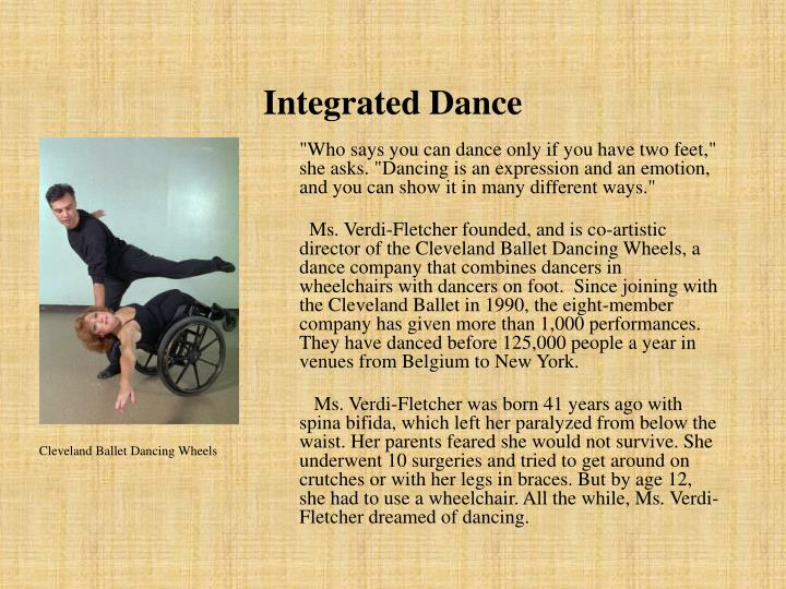Integrated Dance