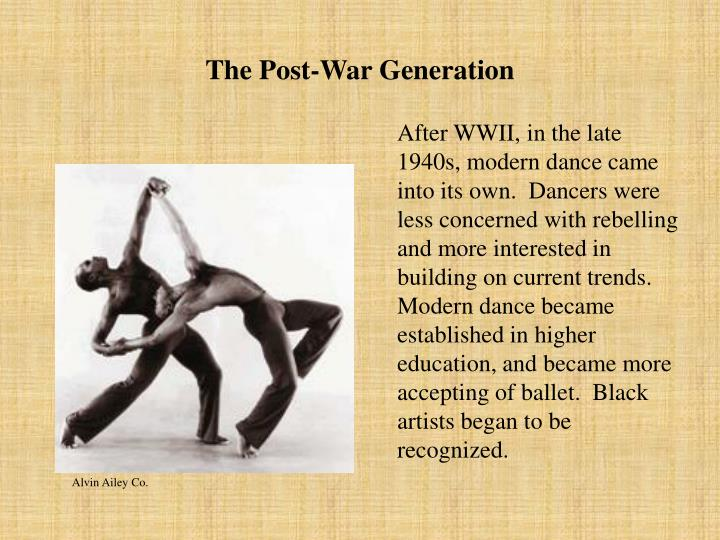 The Post-War Generation