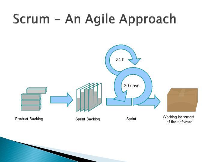 Scrum - An Agile Approach