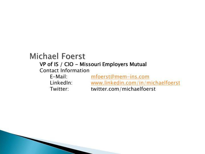 Michael Foerst