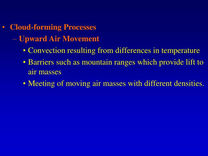 Cloud-forming Processes