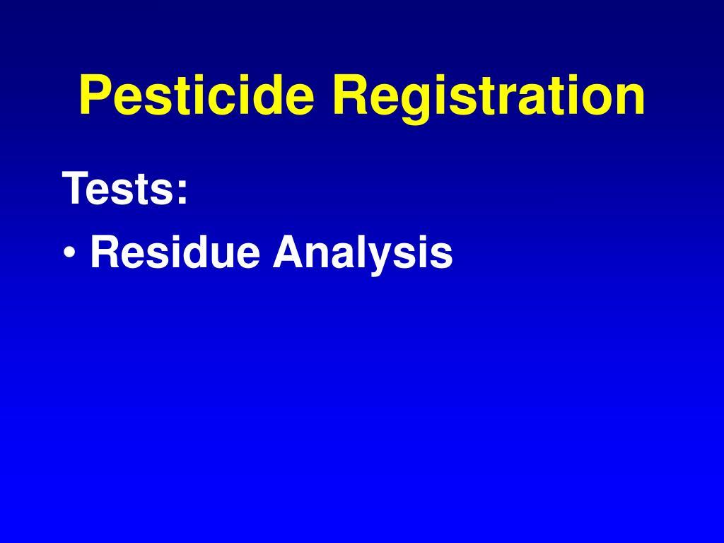 Pesticide Registration