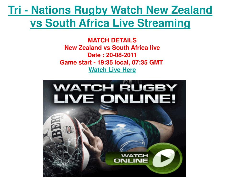 Tri - Nations Rugby Watch New Zealand vs South Africa Live Streaming