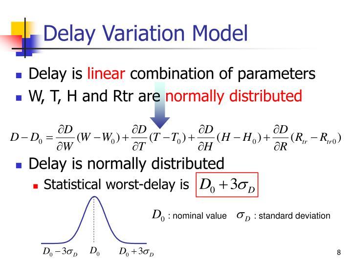 Delay Variation Model