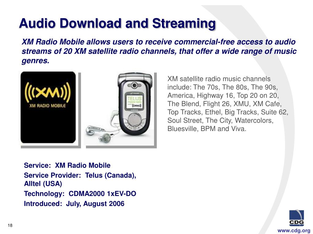 Audio Download and Streaming