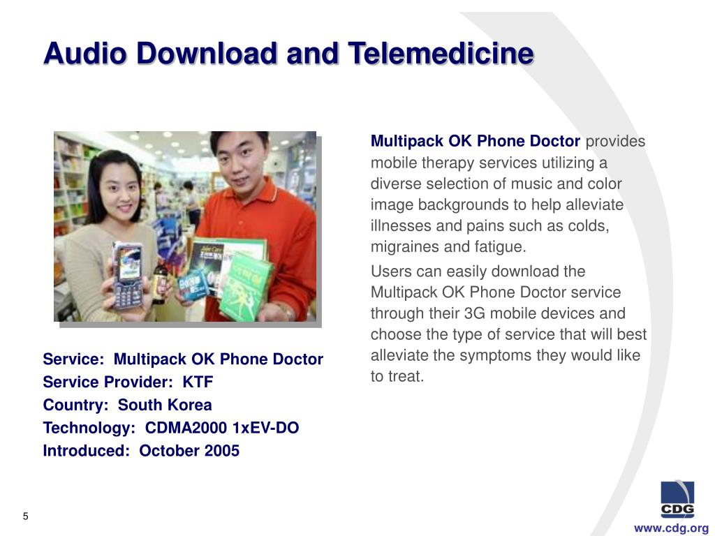 Audio Download and Telemedicine