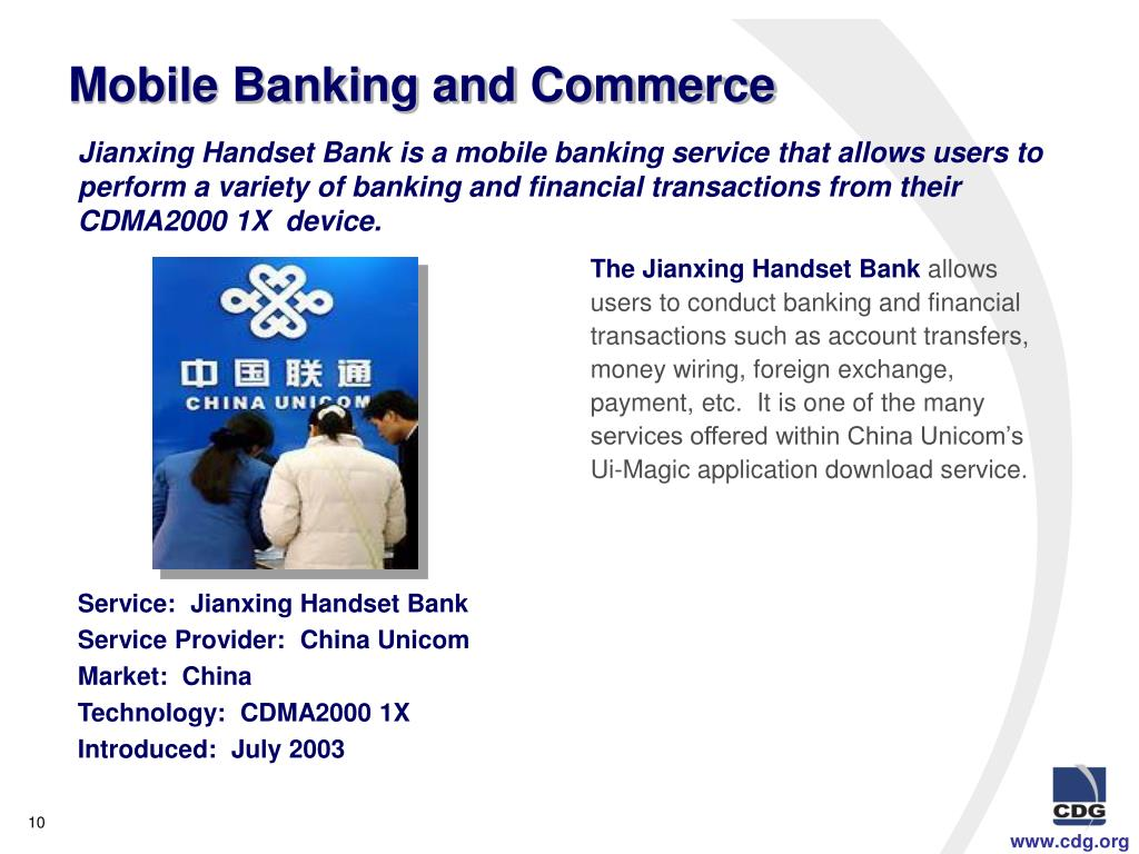 Mobile Banking and Commerce