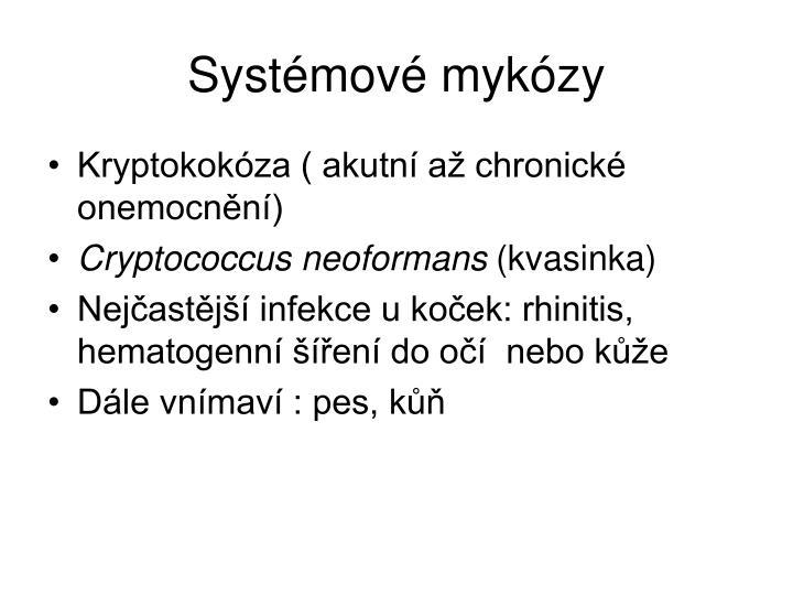 Systémové mykózy