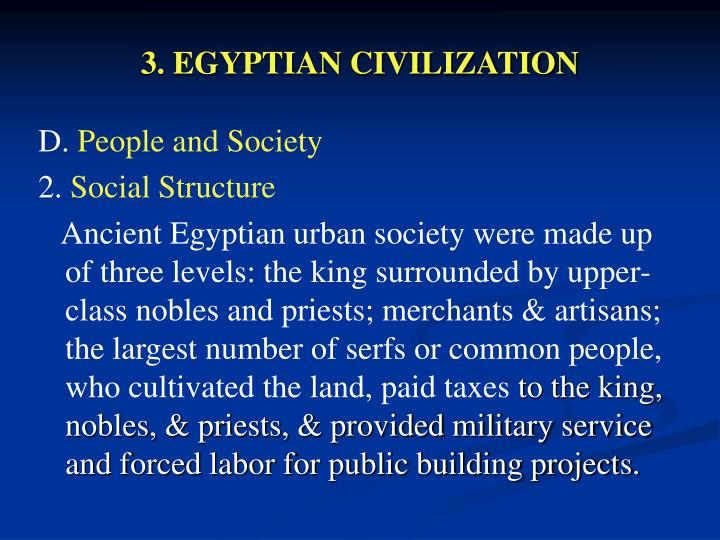 3. EGYPTIAN CIVILIZATION