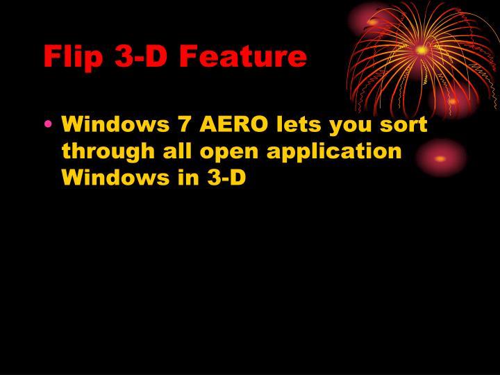 Flip 3-D Feature