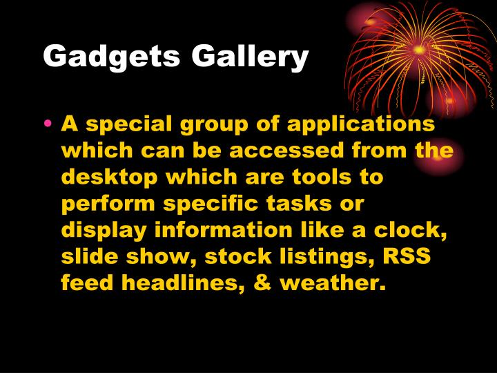 Gadgets Gallery