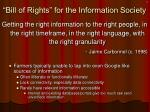 bill of rights for the information society