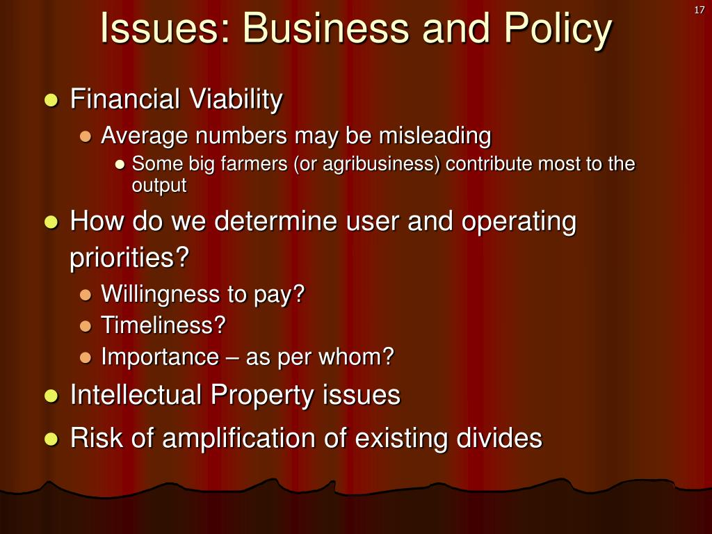 Issues: Business and Policy