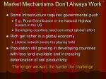 market mechanisms don t always work