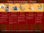 roles of knowledge officers
