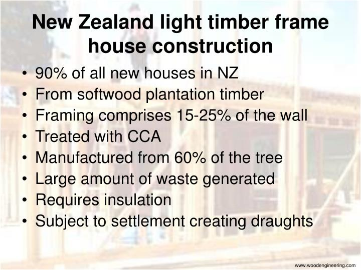 New Zealand light timber frame house construction