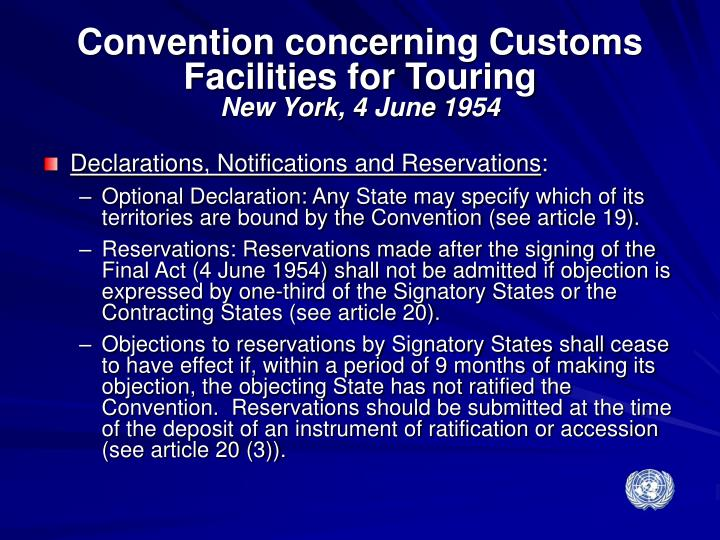 Convention concerning Customs Facilities for Touring
