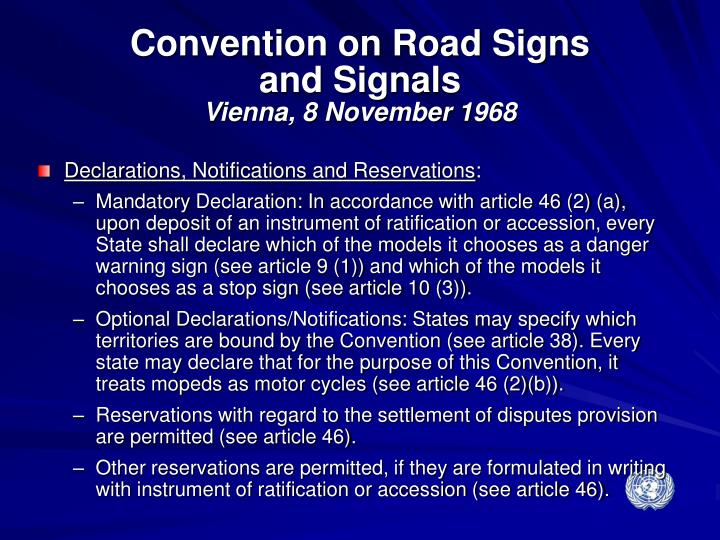 Convention on Road Signs