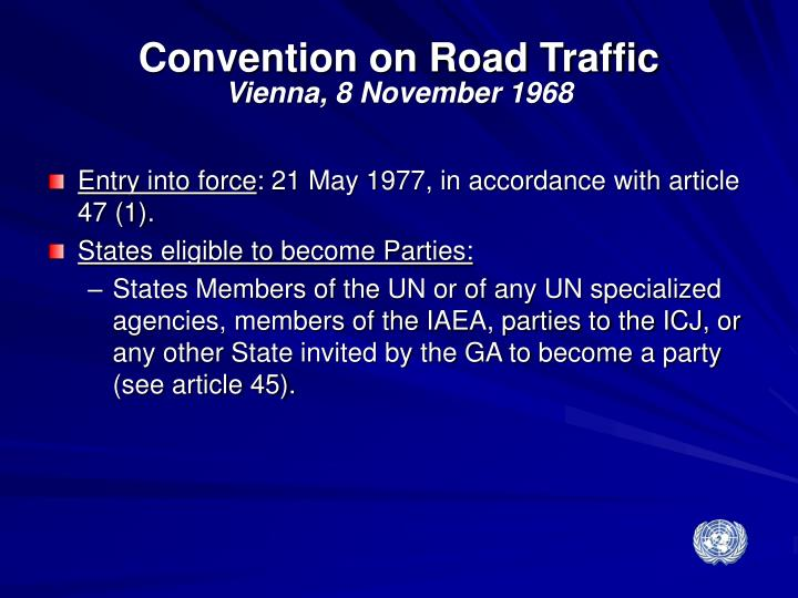 Convention on Road Traffic