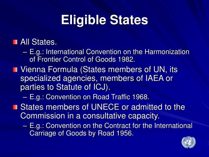 Eligible States