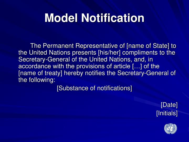 Model Notification