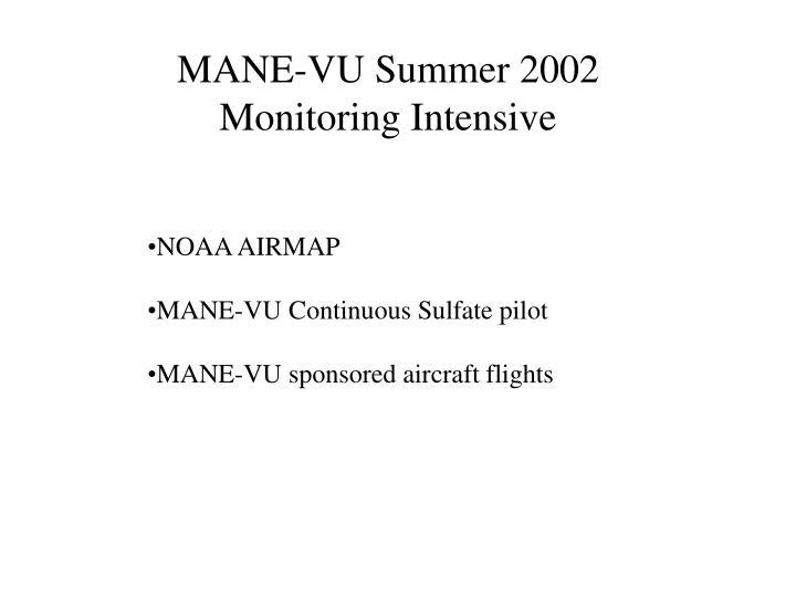 MANE-VU Summer 2002