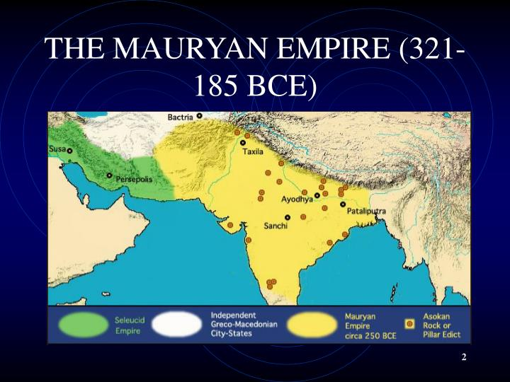 THE MAURYAN EMPIRE (321-185 BCE)