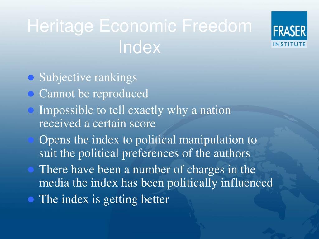 Heritage Economic Freedom Index