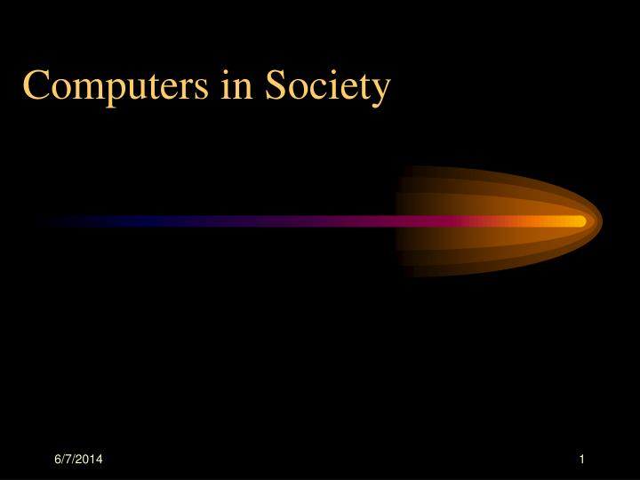 Computers in Society