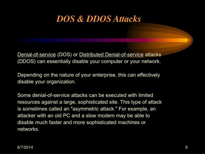 DOS & DDOS Attacks