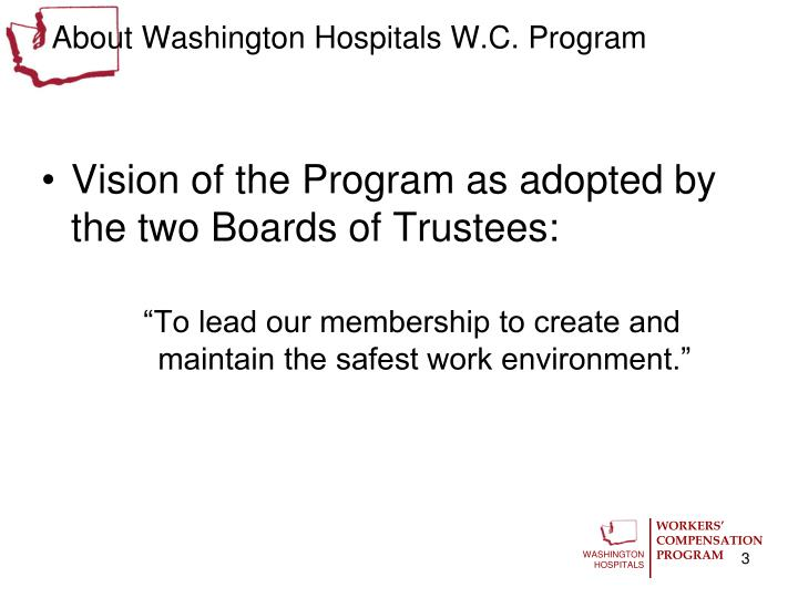 About washington hospitals w c program