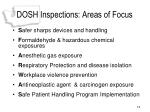 dosh inspections areas of focus