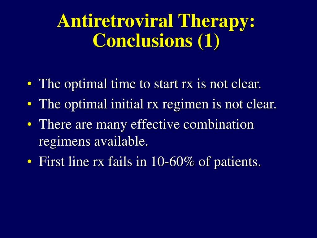 Antiretroviral Therapy:
