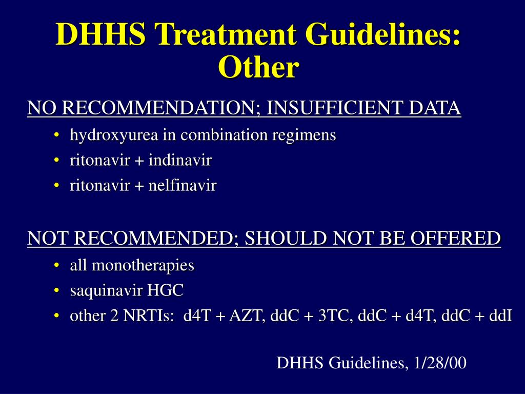 DHHS Treatment Guidelines: