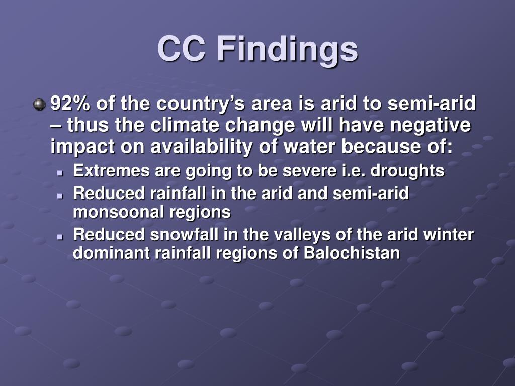 CC Findings