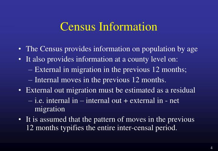 Census Information