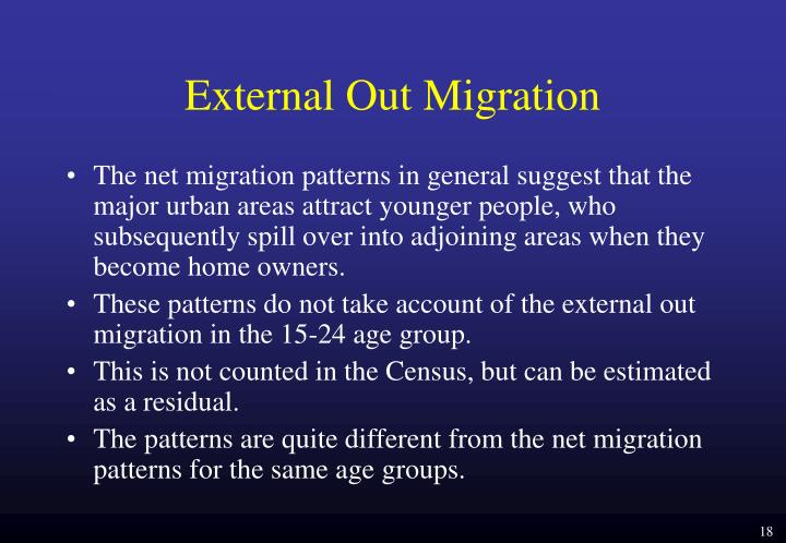 External Out Migration
