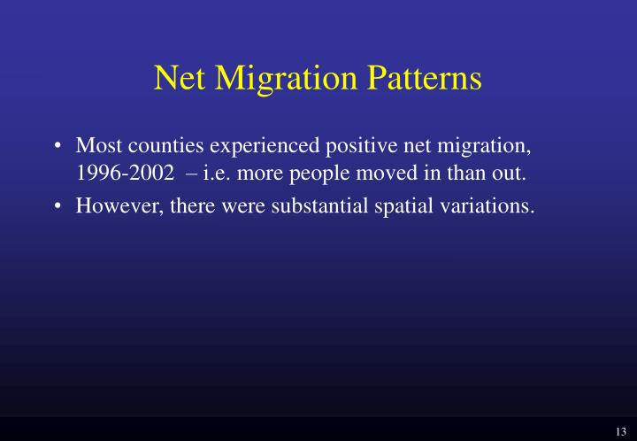 Net Migration Patterns