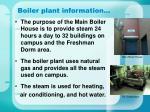 boiler plant information