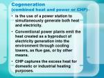 cogeneration combined heat and power or chp