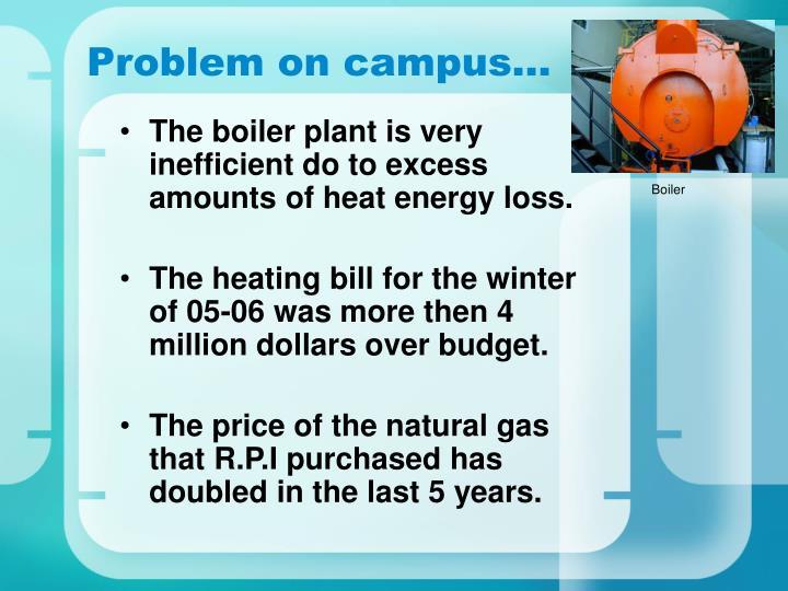 Problem on campus…