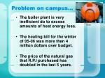 problem on campus