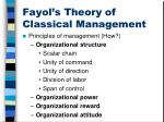 fayol s theory of classical management1