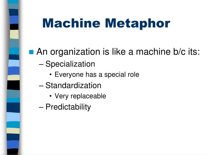 Machine metaphor