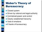 weber s theory of bureaucracy