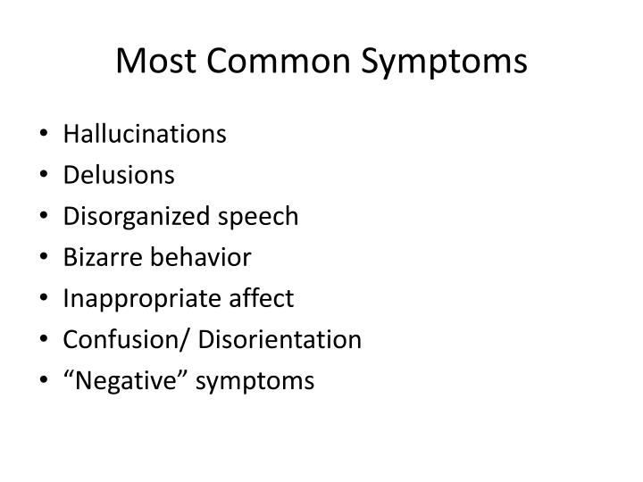 Most Common Symptoms